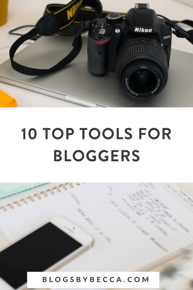 Top Ten Resources for Bloggers! Click to learn about these blogging tools and social media tools to make your blog better! #blogging, #socialmedia, #bloggingtips, #socialmediatips