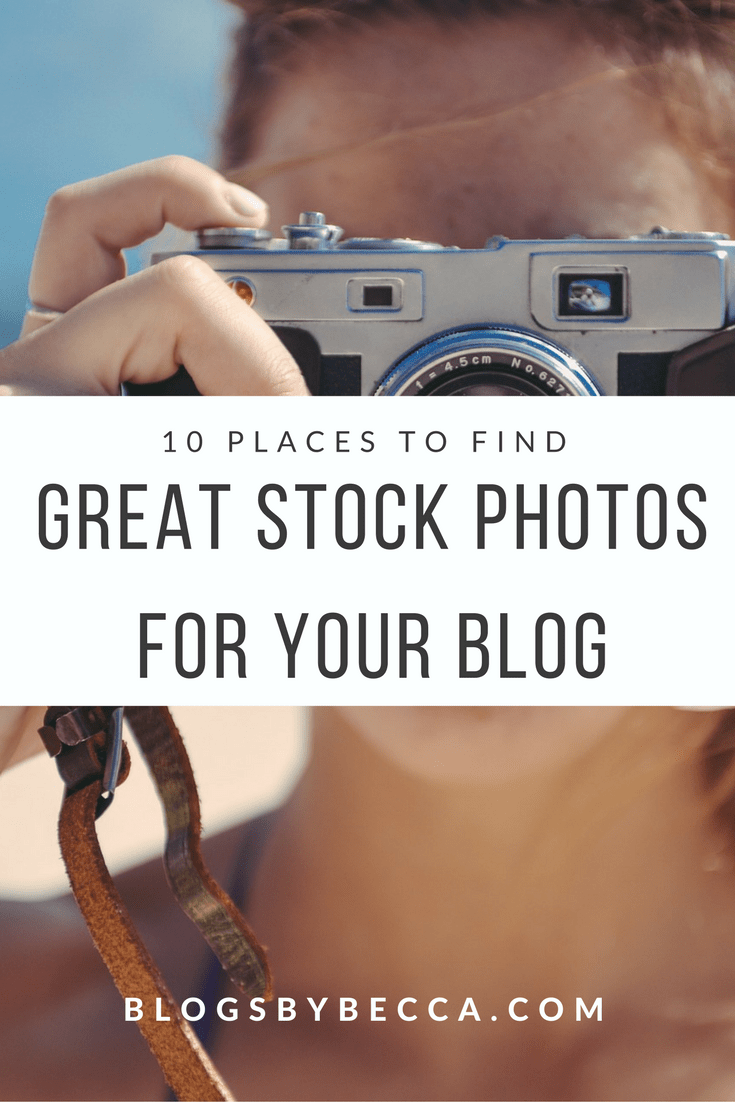 10 Places to Find Great Stock Photos For Your Blog. Check out these great stock photo sites for your blog photography!