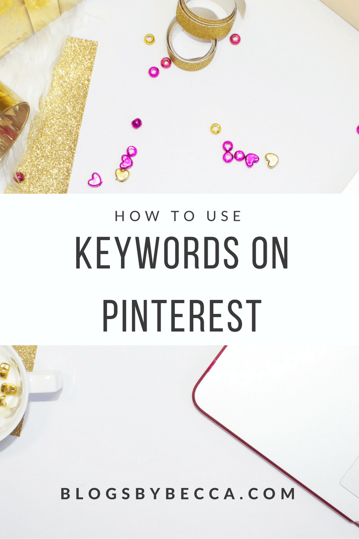 How to Use Keywords on Pinterest. Pinterest for business. Keywords are so important on to growing your Pinterest and getting more blog traffic! Click through to check out the guide.