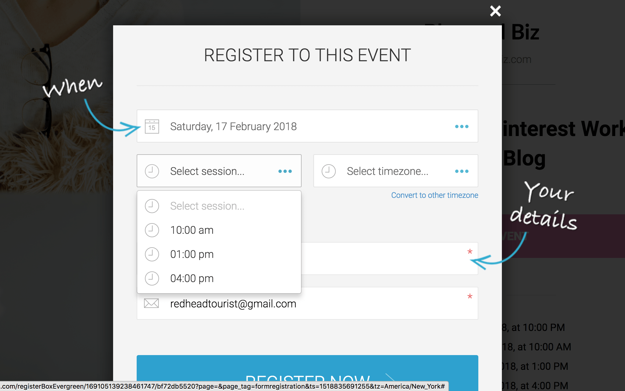 Automated Webinar registration